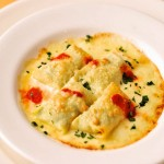 リコッタチーズとほうれん草のクレープ・オーブン焼き